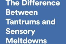tantrums and sensory meltdown