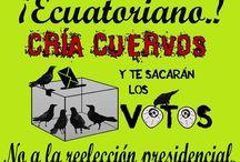 NO A LA REELECCION DEL MEDIOCRE / NO MAS BORREGOS, NO MAS CORREAS, NO MAS MEDIOCRES AUTO DENOMINADOS INTELECTUALES DIFÚNDELO EN TU MURO... YA!!
