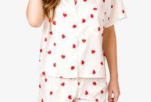 Valentine pajamas / Roztomilé valentínske pyžamká.