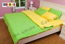 จำหน่ายผ้าปูที่นอน / ผ้าปูที่นอนสีพื้น ผ้า นวม  ชุดเครื่องนอน