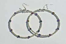 Large Hoop Swarovski Earrings / All items are handmade and shipped worldwide via 1st class post www.LittleHandmadeStore.etsy.com