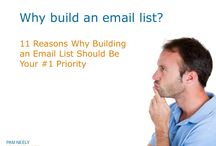 How to Build an Email List / More than 30 different ways to build an email list. Includes videos, SlideShares, blog posts, infographics and more.
