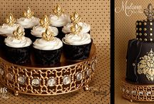 Cupcakes / Creative cupcake display ideas using elegant Opulent Treasures Chandelier Cupcake Stands. Gorgeous decorations for your dessert table. Wedding, bridal shower, baby shower, birthday party and graduation dessert ideas. Los Angeles·www.opulenttreasures.com Opulent Treasures founder Carol Wilson Chandelier Cake Stands and Entertaining Treasures created and TM designs by Opulent Treasures for your Special Occasion<3