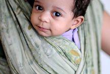 Portage, écharpes de portage / Images de bébés et enfants en écharpe de portage.