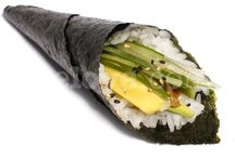 Me Love Temaki / A large cone shaped hand roll stuffed with rice & fillings / by Me Love
