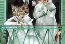 "cats - ubiquitous creatures - Susan Herbert /  ""If you have to ask, you'll never know. If you know, you need only ask."""