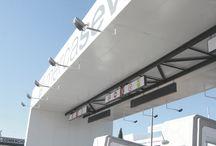 My last architectural proyect, access control Mercasevilla. Un diseño de DiDá (+34 665 086 265) para Nicolás Escalona Construcciones / My last architectural proyect, access control Mercasevilla, the largest food market in southern Europe.