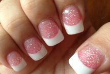 Pink And white / Nails