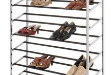 Home And Decor / A chrome shoe tower capable of holding 50 pair of shoes is the answer to your shoe storage needs. It is easy to assemble and is made of durable chromed metal. It boast 10 tiers of non-slip tubes to hold your shoes and has durable wheels for easy mobility or the bottom rack sits flat on the floor for a stationary unit.