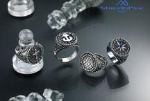 Chevalier Uomo / Anelli da uomo in argento 925, diamanti e pietre preziose