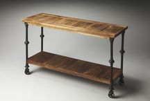 Reclaimed materials - console table inspiration