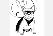 Happy Design2 - posters, illustrtion, typography / illustration, pet draw, typography, posters, motivation posters, french bulldog