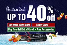Christmas sales / Christmas sales - Tattu lipos and Gens ace Batteries, Up to 40%off, free gifts and buy more get more. From www.genstattu.com
