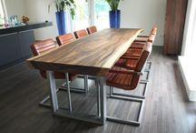 Acacia/Suar wood tables