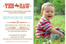 Cowboy First Birthday Party