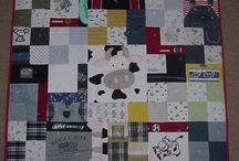 Memory Quilt :) / Making something I can use with my boys baby clothes :)