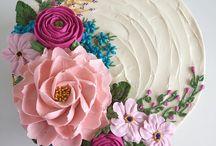Butter cream flower/Cakes