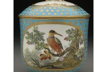 Painted Birds on the Sèvres Tea Service (eleven pieces) of 1767 / In honor of #NationalBirdDay we are pleased to present avian-themed highlights from the current exhibition 'From Sèvres to Fifth Avenue: French Porcelain at The Frick Collection.' The pieces come from a soft-paste porcelain tea service made at the Sèvres Porcelain Manufactory in 1767. The service was painted by Antoine-Joseph Chappuis (active 1756−1787). Please enjoy!    http://www.frick.org/exhibitions/french_porcelain