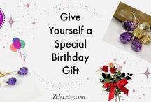 Handmade one-of-a-kind birtday gifts; jewelry;earrings; pendants; necklaces; bracelets