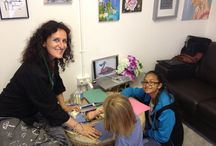 Workshop with Stefania Puntaroli at 504 Gallery during The Roman Road Festivsl 2014 London / Workshop on drawing fantastic animals, taking inspiration from Malocchiosauri ( illustrated by the artist in 2005) with chioderebbe at 504 Gallery during Roman Road Festivsl 2014