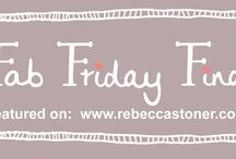 Fab Friday Finds / A regular Friday feature over on my Blog where I showcase my favourite patterned pics I've discovered during the week http://rebeccastoner.co.uk/category/fab-friday-finds/