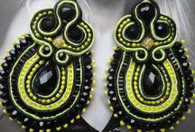 Soutache  by Colibri / Soutache earrings and necklaces  Order by email colibrishoes@gmail.com