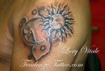Tattoo opdracht / Zon maan
