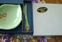 CARLTON WARE-JAM DISH & KNIFE 1939-MINT WITH BOX