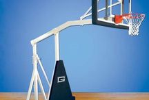 Gared Hoopmaster Basketball Goals / Gared Sports manufactures a series of basketball goals called Hoopmaster. The Hoopmaster goals are used for everything from main court arena goals to side court and recreational play.