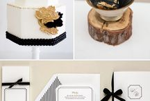 Wedding black and gold