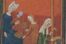 Medieval weaving images / Weaving and related activities.  I find it astonishing that these wonderful images are now available for everyone to browse.