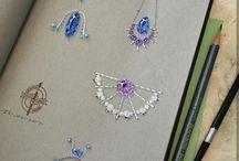 Rysunek biżuterii