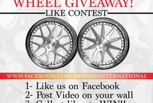 Rennen Wheel Giveaway on Facebook / 1) Like Us on Facebook 2) Post Video on Your Wall 3) Collect Likes to Win!