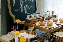 food tables / food trucks