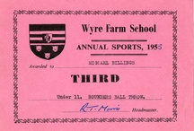 Certificates / School academic and sports certificates and reports 1940 - 1980 http://wyrefarmed.blogspot.co.uk/