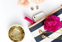 Flat Lays / Inspiration for Instagram-worthy images taken from above. You know the ones...