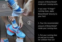 2Toms Tips / Tips on how to use 2Toms products to prevent blisters, chafing, and odors!