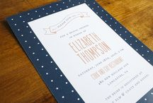 Bridal Shower Invitations / Bridal shower invitations by stockandstamp.com. Letterpress and foil stamping available!