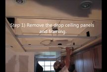What to do with your old outdated kitchen drop ceiling and lights?