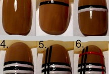 Burberry nail art <3  / great for spring!!!!!!!