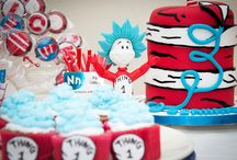 Dr Seuss Cat in the Hat Party & Cake Ideas / Cake and Party