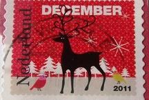 Hollantilaisia joulupostimerkkejä