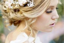 Flowers in her hair.. / For a gorgeous, relaxed boho look we love this board / by Wedding Ideas Magazine