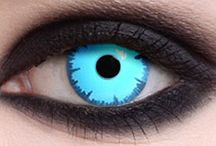 eye color(s) cons/ makeup / Eye contacts with color(s) and makeup. Ps some makeup stuff might be for the color of the eye