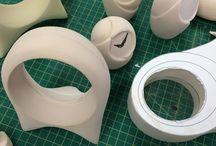 Maquette foam model prototypes