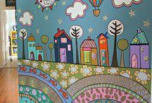 murales niños