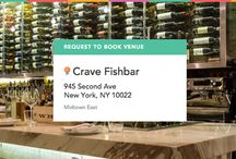 Crave Fishbar on ExpressBook / Book this experience: Sustainably Delicious Tasting Menu with Organic & Biodynamic Wine Pairings in the Front Alcove of Octo Room - Visit: https://venuebook.com/venue/944/crave-fishbar/ / by VenueBook
