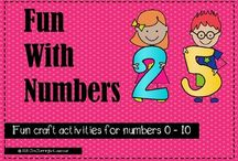 Fun With Numbers - Fun craft activities for numbers 0 - 10 / Fun craft activities for numbers 0 - 10