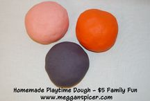 $5 Family Fun - Homemade Playtime Dough / Together, you and your family can work on a craft project that encourages hours of creative play (while saving dough) by making your own homemade playtime dough…all for $5 or less.
