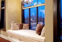 window seat & make nice space